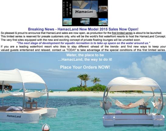 HamacLand new model 2015 presales