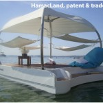 Private floating sun deck for resort