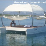 Floating hammocks lounge