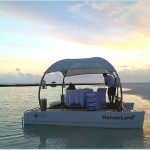 HamacLand Private Multipurpose Floating Lounge: Romantc Floating Diner Setup